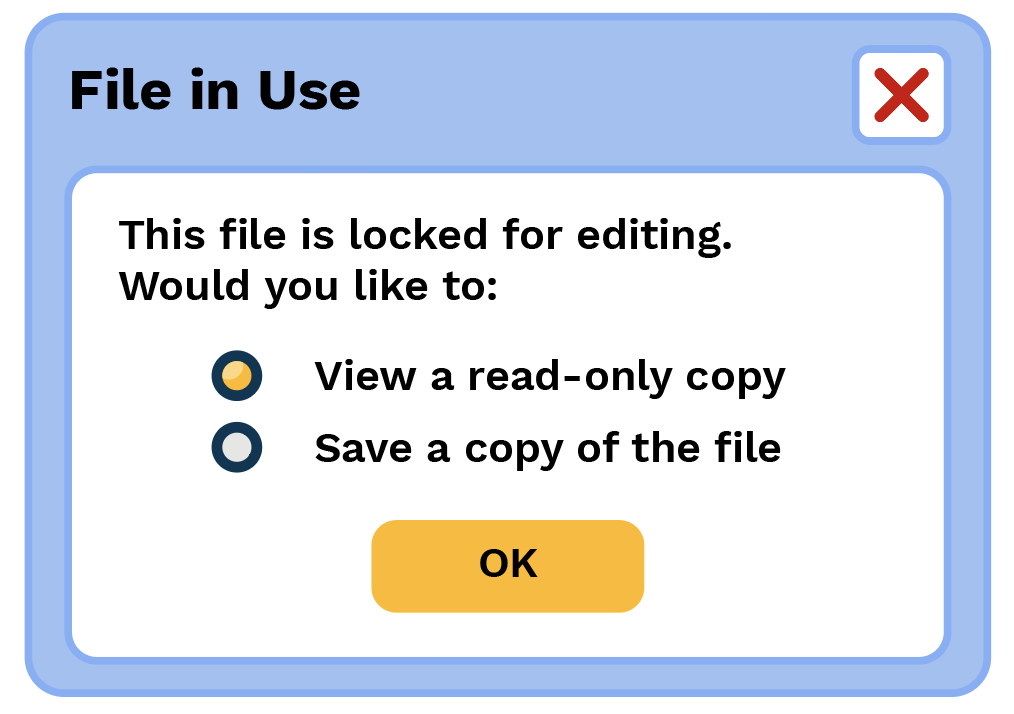 File In Use - File Locking